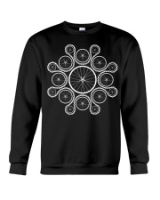 Cycling wheels and chain Crewneck Sweatshirt tile