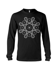 Cycling wheels and chain Long Sleeve Tee tile