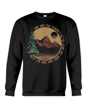 Into The Forest I Go Funny Hiking Camping Crewneck Sweatshirt thumbnail