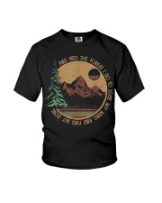 Into The Forest I Go Funny Hiking Camping Youth T-Shirt thumbnail
