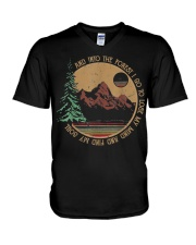 Into The Forest I Go Funny Hiking Camping V-Neck T-Shirt thumbnail