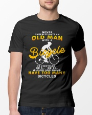 Never Underestimate An Old Man With A Bicycle Classic T-Shirt lifestyle-mens-crewneck-front-13