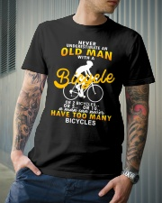Never Underestimate An Old Man With A Bicycle Classic T-Shirt lifestyle-mens-crewneck-front-6