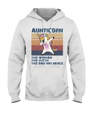 Aunticorn Vintage Shirt Hooded Sweatshirt thumbnail