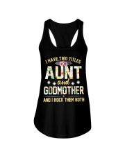 I Have Two Titles Aunt And Godmom I Rock Them Both Ladies Flowy Tank thumbnail