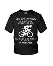 Yes He's Cycling Youth T-Shirt thumbnail