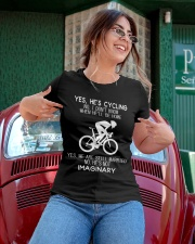 Yes He's Cycling Ladies T-Shirt apparel-ladies-t-shirt-lifestyle-01