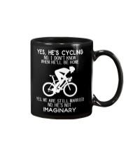 Yes He's Cycling Mug thumbnail
