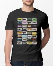 Cassette tapes mixtapes 1980s Classic T-Shirt lifestyle-mens-crewneck-front-13