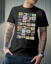 Cassette tapes mixtapes 1980s Classic T-Shirt lifestyle-mens-crewneck-front-6
