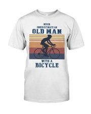 An Old Man With A Bicycle Classic T-Shirt front