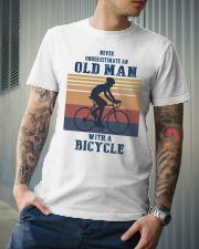 An Old Man With A Bicycle Classic T-Shirt lifestyle-mens-crewneck-front-6