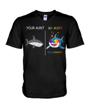 Your Aunt - My Auntie Shark V-Neck T-Shirt thumbnail