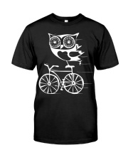 Owl on bicycle Classic T-Shirt front