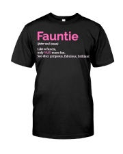 Fauntie Funny Definition Classic T-Shirt front