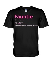 Fauntie Funny Definition V-Neck T-Shirt thumbnail
