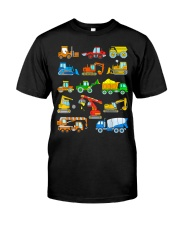 Construction Excavator Shirt For Kids Classic T-Shirt thumbnail