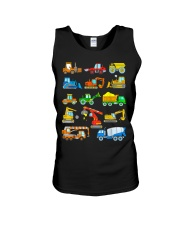 Construction Excavator Shirt For Kids Unisex Tank thumbnail
