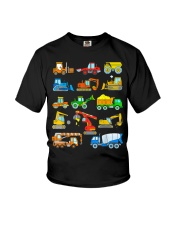 Construction Excavator Shirt For Kids Youth T-Shirt front