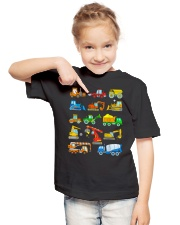 Construction Excavator Shirt For Kids Youth T-Shirt lifestyle-youth-tshirt-front-2