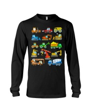 Construction Excavator Shirt For Kids Long Sleeve Tee thumbnail