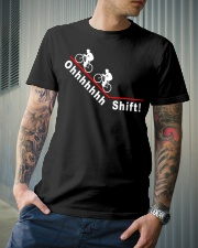 Ohhhhhhh Shift funny cycling design Classic T-Shirt lifestyle-mens-crewneck-front-6