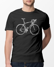 Road Bicycle Typo Design Classic T-Shirt lifestyle-mens-crewneck-front-13