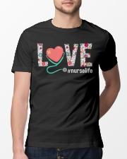 Love Floral Tropical Nurse Life T-shirt Classic T-Shirt lifestyle-mens-crewneck-front-13