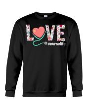 Love Floral Tropical Nurse Life T-shirt Crewneck Sweatshirt thumbnail