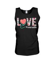 Love Floral Tropical Nurse Life T-shirt Unisex Tank thumbnail