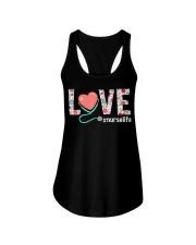 Love Floral Tropical Nurse Life T-shirt Ladies Flowy Tank thumbnail