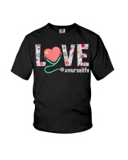 Love Floral Tropical Nurse Life T-shirt Youth T-Shirt thumbnail