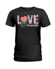 Love Floral Tropical Nurse Life T-shirt Ladies T-Shirt thumbnail