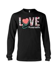 Love Floral Tropical Nurse Life T-shirt Long Sleeve Tee thumbnail