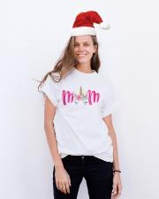 Unicorn Mom Classic T-Shirt lifestyle-holiday-crewneck-front-1
