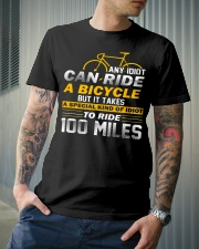 It takes a special kind of idiots to ride 100 mile Classic T-Shirt lifestyle-mens-crewneck-front-6
