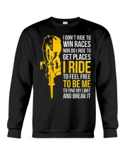 I ride to be me Crewneck Sweatshirt thumbnail