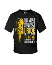 I ride to be me Youth T-Shirt thumbnail