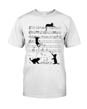 Funny cat - music design Classic T-Shirt front