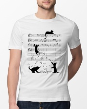 Funny cat - music design Classic T-Shirt lifestyle-mens-crewneck-front-13