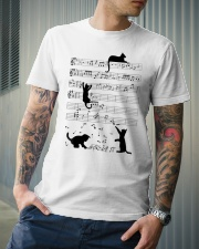 Funny cat - music design Classic T-Shirt lifestyle-mens-crewneck-front-6