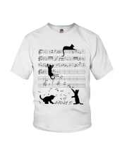 Funny cat - music design Youth T-Shirt thumbnail