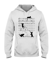 Funny cat - music design Hooded Sweatshirt thumbnail