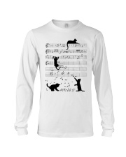 Funny cat - music design Long Sleeve Tee thumbnail