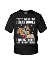 That's What I Do I Read Books I Drink Coffee Youth T-Shirt thumbnail