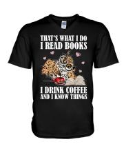 That's What I Do I Read Books I Drink Coffee V-Neck T-Shirt thumbnail