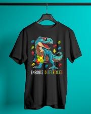 Dinosaur Puzzle Piece Autism Awareness Classic T-Shirt lifestyle-mens-crewneck-front-3