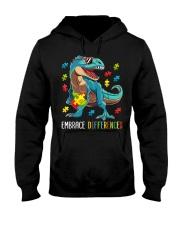Dinosaur Puzzle Piece Autism Awareness Hooded Sweatshirt thumbnail