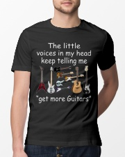 The voices in my head telling me get more guitars Classic T-Shirt lifestyle-mens-crewneck-front-13