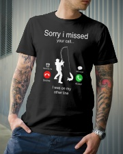 I Was On My Other Line Classic T-Shirt lifestyle-mens-crewneck-front-6